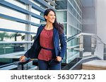 confident business woman... | Shutterstock . vector #563077213