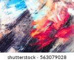 bright artistic splashes.... | Shutterstock . vector #563079028