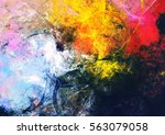 bright artistic splashes.... | Shutterstock . vector #563079058