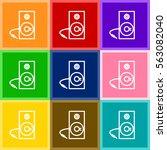 studio music speaker vector...   Shutterstock .eps vector #563082040