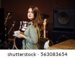 beautiful woman  posing in... | Shutterstock . vector #563083654