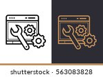outline web optimization icon...   Shutterstock .eps vector #563083828