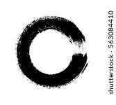 vector brush strokes circles of ...   Shutterstock .eps vector #563084410