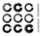 vector brush strokes circles of ... | Shutterstock .eps vector #563084449