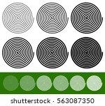 logarithmic spirals with... | Shutterstock . vector #563087350
