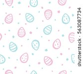 tiny brush drawn easter eggs...   Shutterstock .eps vector #563087734