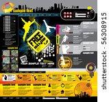 website layout | Shutterstock .eps vector #56308915