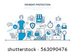 secure transactions and... | Shutterstock .eps vector #563090476