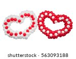 two hearts on white background  ... | Shutterstock . vector #563093188