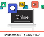 get in touch connection online... | Shutterstock . vector #563094460