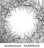 random lines  chaotic lines... | Shutterstock . vector #563098120