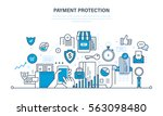 protection  guarantee payment... | Shutterstock .eps vector #563098480