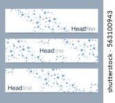 scientific set of modern vector ... | Shutterstock .eps vector #563100943