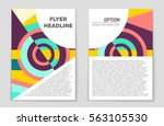 abstract vector layout... | Shutterstock .eps vector #563105530