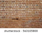 Red Clay Brick Wall Old Textur...