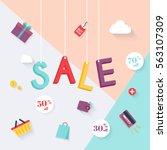 sale banners design  discounts... | Shutterstock .eps vector #563107309