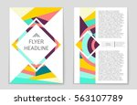 abstract vector layout... | Shutterstock .eps vector #563107789