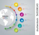 timeline infographic design... | Shutterstock .eps vector #563108143