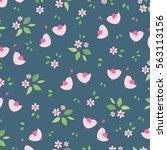 cute seamless vector decorative ... | Shutterstock .eps vector #563113156