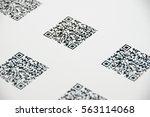 bluetooth barcode and qr code... | Shutterstock . vector #563114068