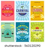 colorful carnival celebration... | Shutterstock .eps vector #563120290