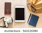 travel and vacation concept ... | Shutterstock . vector #563120380