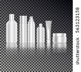 cosmetic bottle mockup set.... | Shutterstock .eps vector #563123158