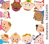 baby meeting frame | Shutterstock .eps vector #563124454