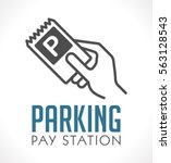 logo   parking card or ticket   ... | Shutterstock .eps vector #563128543