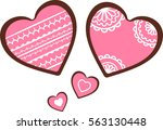 sweet holiday gingerbread... | Shutterstock .eps vector #563130448