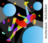 children rock climber sport... | Shutterstock .eps vector #563130664