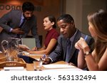 business colleagues working... | Shutterstock . vector #563132494