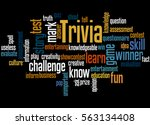 trivia  word cloud concept on... | Shutterstock . vector #563134408