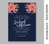 wedding invitations with... | Shutterstock .eps vector #563136346