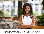 smiling young black... | Shutterstock . vector #563137720