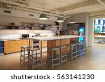 Stock photo kitchen area in corporate business cafeteria los angeles 563141230