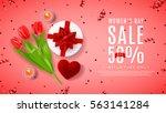 pink banner for women's day... | Shutterstock .eps vector #563141284