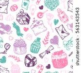 valentine's day. vector...   Shutterstock .eps vector #563143543