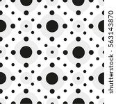 seamless geometric pattern with ... | Shutterstock .eps vector #563143870
