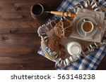 coffee brewed in turku with... | Shutterstock . vector #563148238