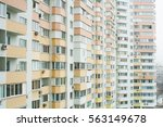 many apartments in building. | Shutterstock . vector #563149678