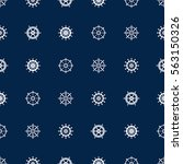 ship helm seamless pattern.... | Shutterstock .eps vector #563150326