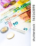 euro money  closeup of... | Shutterstock . vector #563163898