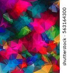 colorful geometric background... | Shutterstock .eps vector #563164300