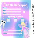 certificate tooth fairy | Shutterstock .eps vector #563169988