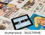 paris  france   jan 21  2017 ... | Shutterstock . vector #563170948