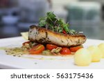 Grilled Sea Bass With Sauteed...