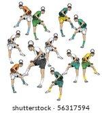 soccer player with  team dress. | Shutterstock .eps vector #56317594