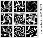 monochrome spiral  twirl... | Shutterstock . vector #563178574