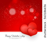 happy valentines day card... | Shutterstock .eps vector #563186656